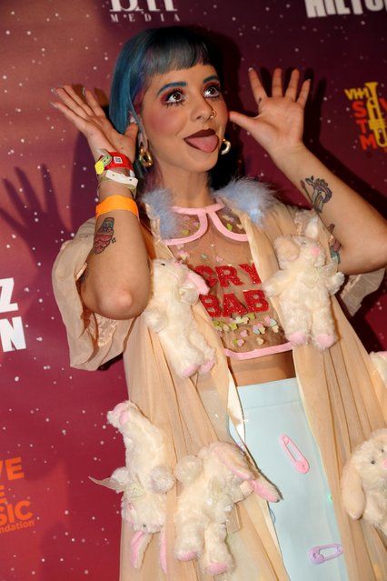 Melanie Martinez appears at Perez Hilton's One Night in Austin at the Austin Music Hall at SXSW on Saturday, March 21, 2015, in Austin, Texas. (Photo by John Davisson/Invision/AP Photo)