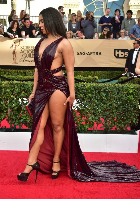 Actress Jessica Pimentel arrives for the 23 rd Annual Screen Actors Guild Awards at the Shrine Exposition Center on January 29, 2017, in Los Angeles, California. (Photo by Frederic J. Brown/AFP Photo)