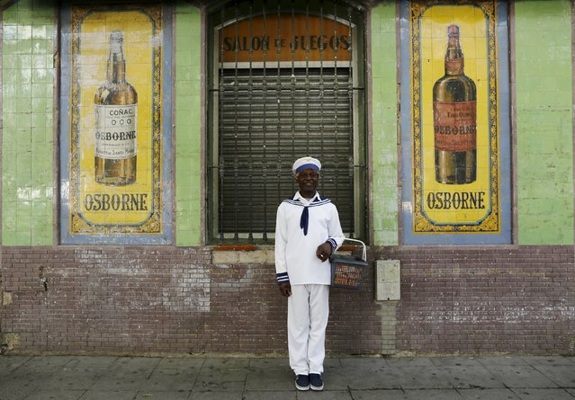 Howard Jackson, a Liberian migrant, poses for a portrait in the Andalusian capital of Seville, southern Spain March 7, 2016. (Photo by Marcelo del Pozo/Reuters)