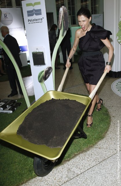 Jana Pallaske attends the Clean Tech Media Award 2011 at Curio house on September 16, 2011 in Hamburg, Germany
