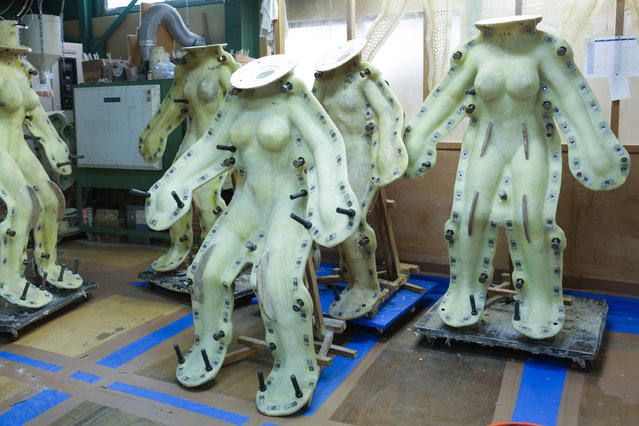 The molds of love doll are seen on March 9, 2017 in Tokyo, Japan. (Photo by Taro Karibe/Getty Images)