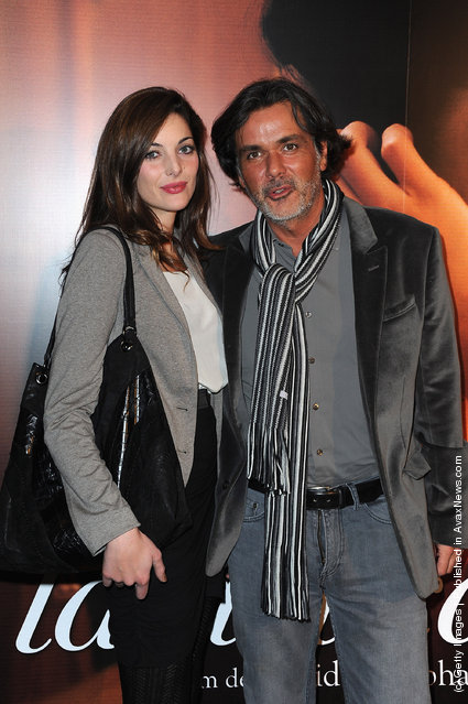 Christophe Barratier and girlfriend attend 'La Delicatesse' Paris Premiere