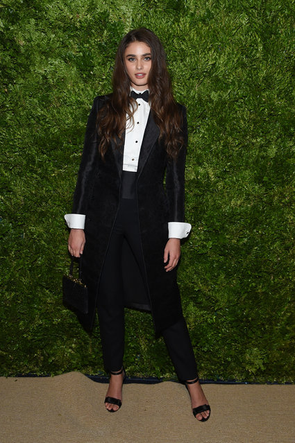 Taylor Hill attends the CFDA / Vogue Fashion Fund 2019 Awards at Cipriani South Street on November 04, 2019 in New York City. (Photo by Jamie McCarthy/Getty Images)