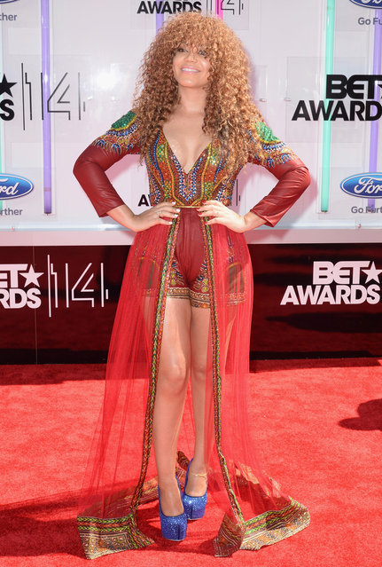 Actress Nadia Buari attends the BET AWARDS '14 at Nokia Theatre L.A. LIVE on June 29, 2014 in Los Angeles, California. (Photo by Earl Gibson III/Getty Images for BET)