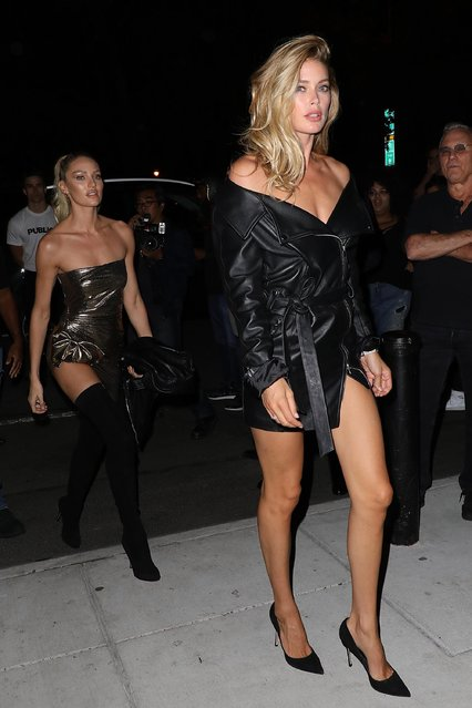 Doutzen Kroes and Candice Swanpoel arrive at the Mert Alas x Marcus Piggot book launch party at Public Hotelon September 7, 2017 in New York City. (Photo by Pierre Suu/GC Images)