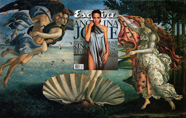 Quirky Magazine covers: Angelina and Venus. (Photo by Eisen Bernard Bernardo/Caters News)