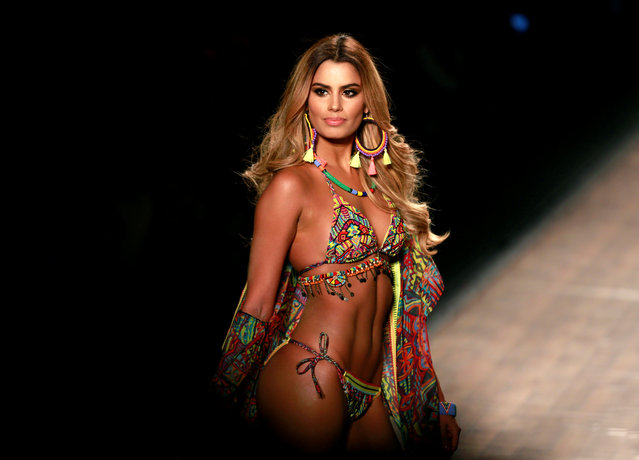Colombian model Ariadna Gutierrez, presents creations by Colombian brand Agua Bendita during Colombiamoda fashion event in Medellin, Colombia, July 28, 2016. (Photo by John Vizcaino/Reuters)