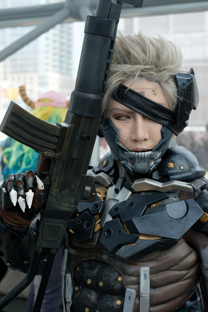 Shiori dressed as MGS2 Raiden during the 2017 New York Comic Con Day 3 on October 7, 2017 in New York City. (Photo by Gabriella Bass)