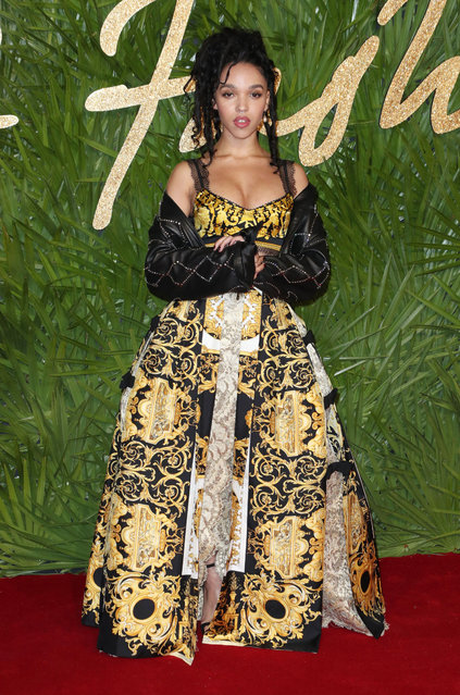 English singer-songwriter FKA Twigs attends The Fashion Awards 2017 in partnership with Swarovski at Royal Albert Hall on December 4, 2017 in London, England. (Photo by Matt Baron/Rex Features/Shutterstock)