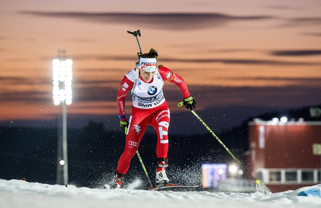 Dorothea Wierer of Italy competes in the women's 7.5km sprint at the IBU World Cup Biathlon event in Ostersund December 6, 2014. (Photo by Marcus Ericcsson/Reuters/TT News Agency)