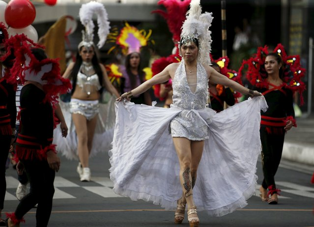 Filipino transgender women wear costumes during a World Aids day celebration in Manila, Philippines, December 1, 2015. (Photo by Erik De Castro/Reuters)