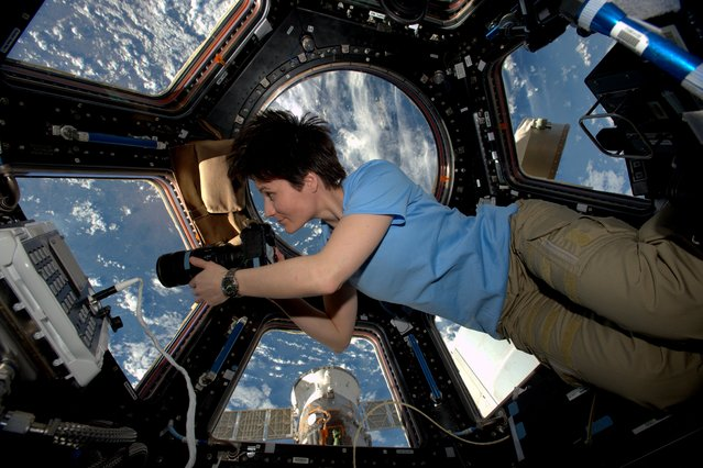 ESA astronaut Samantha Cristoforetti on the International Space Station 3 February 2015 during her Futura mission. Samantha is living and working on the Station as part of the Expedition 42 crew. (Photo by ESA/NASA)