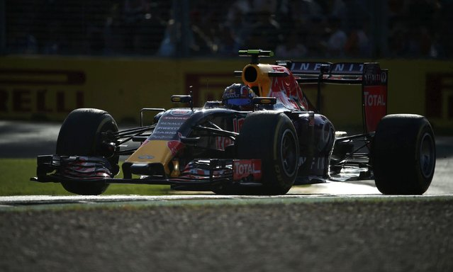 Red Bull Formula One driver Daniil Kvyat of Russia drives during the second practice session of the Australian F1 Grand Prix at the Albert Park circuit in Melbourne March 13, 2015.  REUTERS/Jason Reed