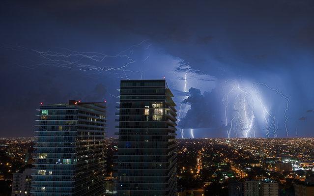 """West Miami Lightning"". Miami, 2013. (Photo by lostINmia)"