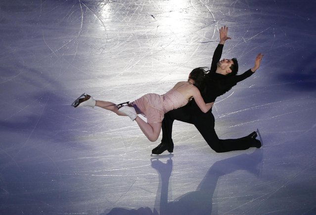 Anna Cappellini and Luca Lanotte of Italy perform during the Exhibition event in the ISU World Figure Skating Championship 2015 held at the Oriental Sports Center in Shanghai, China, Sunday, March 29, 2015. (Photo by Ng Han Guan/AP Photo)