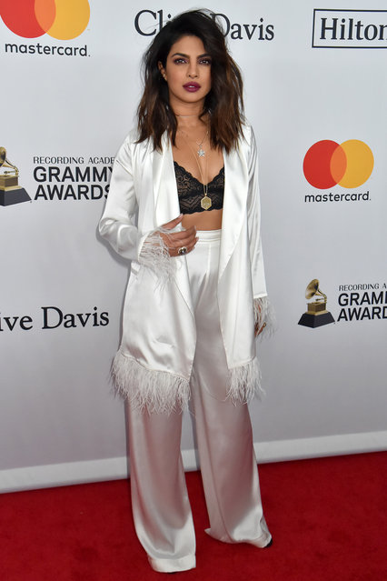 Actress Priyanka Chopra attends the Clive Davis and Recording Academy Pre-GRAMMY Gala and GRAMMY Salute to Industry Icons Honoring Jay-Z on January 27, 2018 in New York City. (Photo by Jeff Kravitz/FilmMagic)