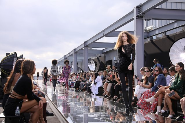 Models present creations at the DUNDAS x REVOLVE New York Fashion Week Show in Manhattan, New York City, U.S., September 8, 2021. (Photo by Caitlin Ochs/Reuters)