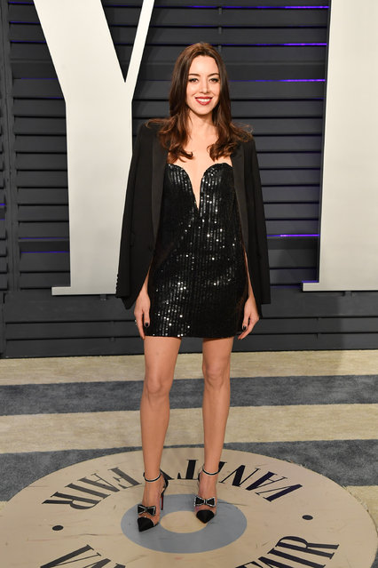 Aubrey Plaza attends the 2019 Vanity Fair Oscar Party hosted by Radhika Jones at Wallis Annenberg Center for the Performing Arts on February 24, 2019 in Beverly Hills, California. (Photo by George Pimentel/Getty Images)