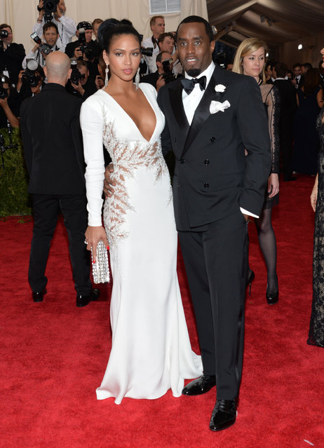 "Cassie Ventura and Sean Combs arrives at The Metropolitan Museum of Art's Costume Institute benefit gala celebrating ""China: Through the Looking Glass"" on Monday, May 4, 2015, in New York. (Photo by Evan Agostini/Invision/AP Photo)"