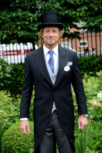 ASCOT, ENGLAND - JUNE 17:  Actor Simon Baker attends Royal Ascot 2015 at Ascot racecourse on June 17, 2015 in Ascot, England.  (Photo by Kirstin Sinclair/Getty Images for Ascot Racecourse)