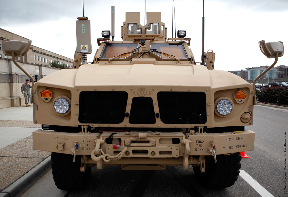 MRAP vehicles in Afghanistan