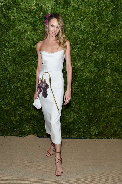 Candice Swanepoel attends the CFDA / Vogue Fashion Fund 2019 Awards at Cipriani South Street on November 04, 2019 in New York City. (Photo by Jamie McCarthy/Getty Images)