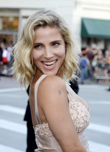 """Model Elsa Pataky poses during the premiere of the film """"Vacation"""" at the Regency Village Theatre in the Westwood section of Los Angeles, California July 27, 2015. (Photo by Kevork Djansezian/Reuters)"""