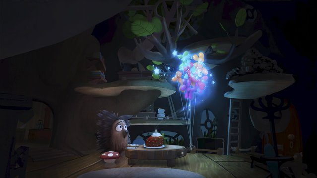 "The animated character Henry is shown in a scene from the 3D virtual reality film of the same name, in this undated publicity photo released to Reuters on July 28, 2015. In a Beverly Hills mansion on Tuesday, Facebook-owned Oculus rolled out ""Henry"", a movie that takes advantage of its virtual reality technology to tell the story of a hug-obsessed hedgehog. The company's pitch is to lure filmmakers to use the technology and produce content that attracts consumers for the Rift, its virtual reality headset. (Photo by Reuters/Oculus)"