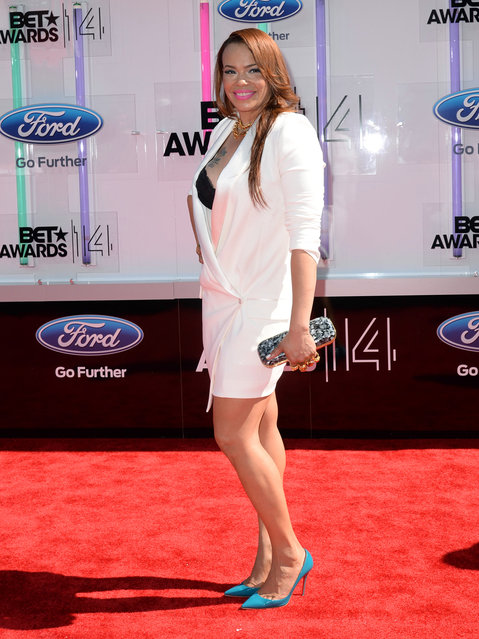 Singer Faith Evans attends the BET AWARDS '14 at Nokia Theatre L.A. LIVE on June 29, 2014 in Los Angeles, California. (Photo by Earl Gibson III/Getty Images for BET)