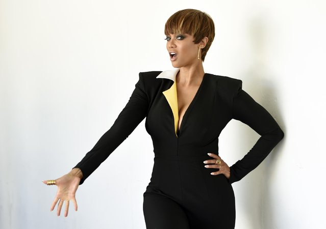 "Tyra Banks, one of the hosts of the lifestyle talk show ""FABLife"", poses for a portrait during the 2015 Television Critics Association Summer Press Tour at the Beverly Hilton on Tuesday, August 4, 2015, in Beverly Hills, Calif. (Photo by Chris Pizzello/Invision/AP Photo)"