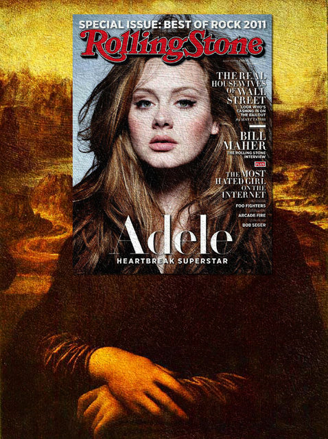 Quirky Magazine covers: Adele and Monalisa. (Photo by Eisen Bernard Bernardo/Caters News)