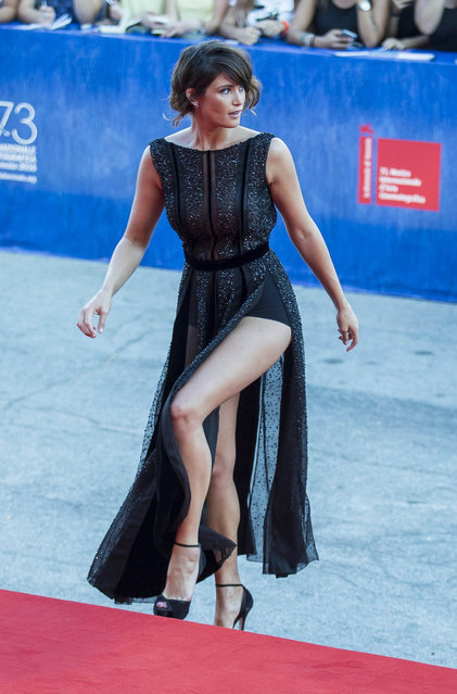 """Gemma Arterton at """"The Young Pope (Episode I & II)"""" premiere during 73rd Venice Film Festival on September 03, 2016 in Venice, Italy. (Photo by Startraks Photo/Rex Features/Shutterstock)"""