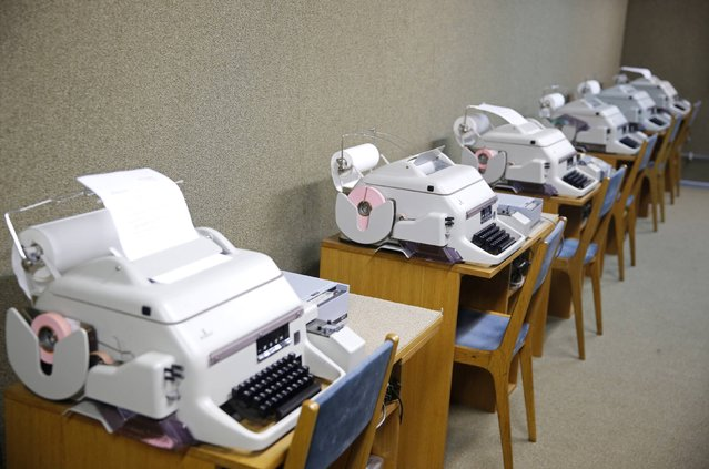 A fax office is seen in Josip Broz Tito's underground secret bunker (ARK) in Konjic, October 16, 2014. (Photo by Dado Ruvic/Reuters)