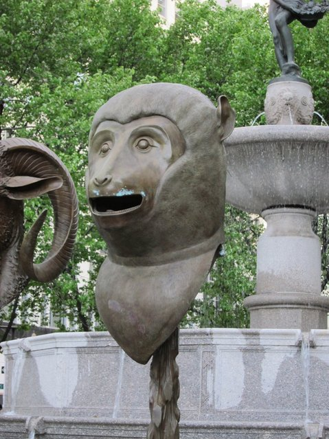 Circle of Friends-Zodiac Heads in Central Park