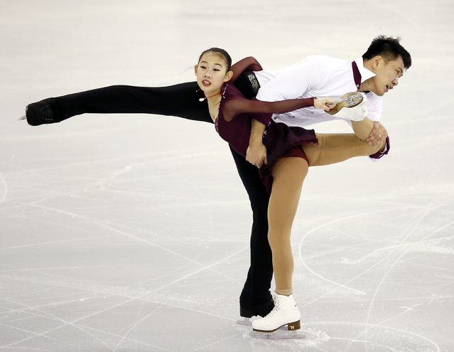 China's Peng Cheng and Zhang Hao perform during the Ice Pairs free skating at the ISU Grand Prix of Figure Skating final in Barcelona December 13, 2014. (Photo by Albert Gea/Reuters)