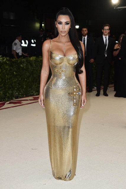 Kim Kardashian attends the Heavenly Bodies: Fashion & The Catholic Imagination Costume Institute Gala at The Metropolitan Museum of Art on May 7, 2018 in New York City. (Photo by Frazer Harrison/FilmMagic)