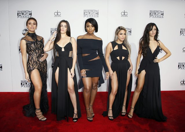 (L-R) recording artists Dinah Jane Hansen, Lauren Jauregui, Normani Hamilton, Ally Brooke and Camila Cabello of musical group Fifth Harmony arrive at the 2016 American Music Awards in Los Angeles, California, U.S., November 20, 2016. (Photo by Danny Moloshok/Reuters)