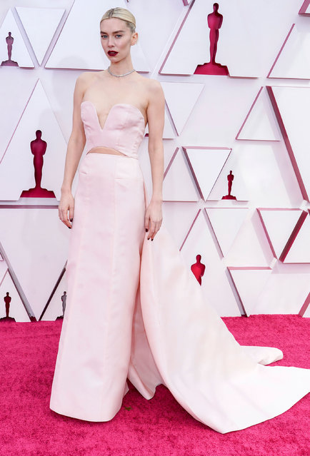 Vanessa Kirby attends the 93rd Annual Academy Awards at Union Station on April 25, 2021 in Los Angeles, California. (Photo by Chris Pizzelo-Pool/Getty Images)