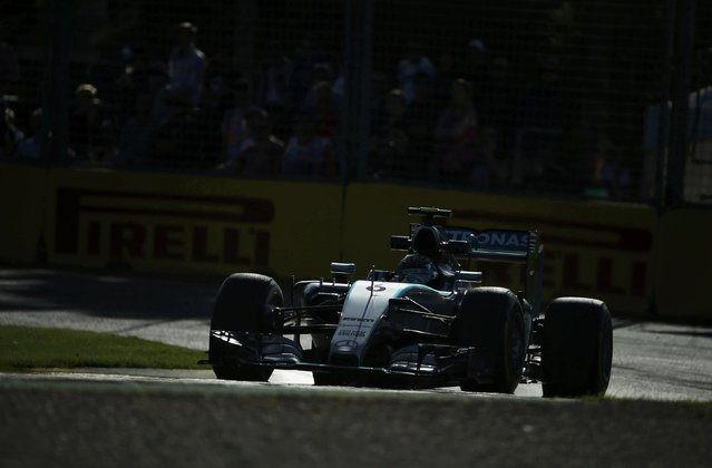 Mercedes Formula One driver Nico Rosberg of Germany drives during the second practice session of the Australian F1 Grand Prix at the Albert Park circuit in Melbourne March 13, 2015.  REUTERS/Jason Reed