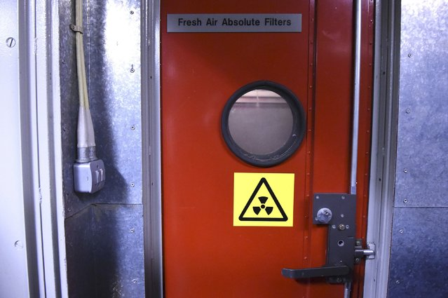 The fresh air filter room is seen in a former Regional Government HQ Nuclear bunker built by the British government during the Cold War which  has come up for sale in Ballymena, Northern Ireland on February 4, 2016. (Photo by Clodagh Kilcoyne/Reuters)
