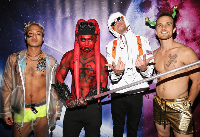 """(L-R) Jesse Montana , Kyle Chan, James Kennedy and Anthony F. attend Kyle Chan's """"Star Wars vs. s*xy Aliens"""" Birthday Party at Sofitel Hotel on February 19, 2019 in Los Angeles, California. (Photo by Robin L Marshall/Getty Images)"""