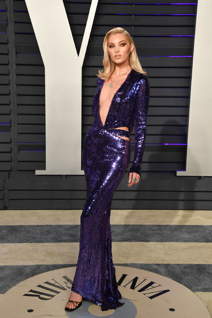 Elsa Hosk attends the 2019 Vanity Fair Oscar Party hosted by Radhika Jones at Wallis Annenberg Center for the Performing Arts on February 24, 2019 in Beverly Hills, California. (Photo by George Pimentel/Getty Images)