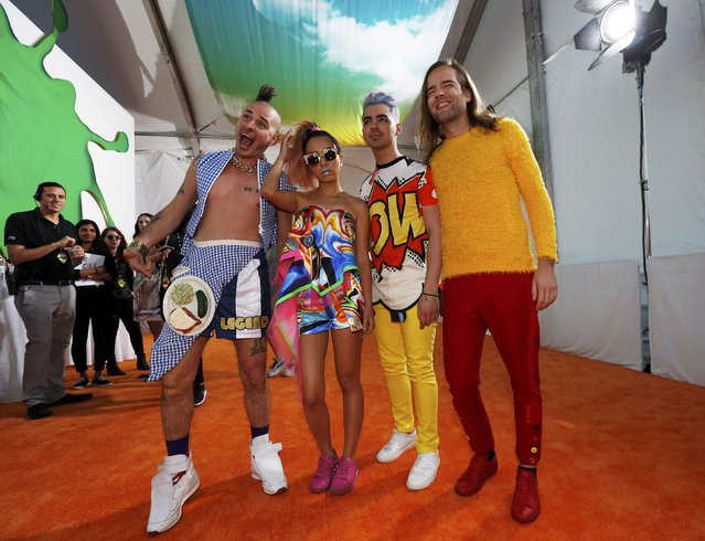 The group DNCE arrives at Nickelodeon's 2016 Kids' Choice Awards in Inglewood, California March 12, 2016. (Photo by Mario Anzuoni/Reuters)