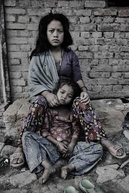 Workers seen at a brick kilns in Kathmandu Valley, Nepal. (Photo by Jan Moeller Hansen/Barcroft Images)