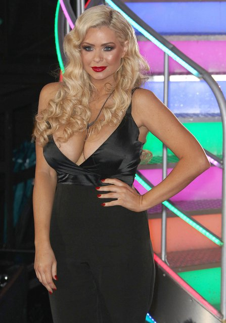 Nicola McLean during Celebrity Big Brother - Winter 2017 Live Final at Elstree Studios on February 03, 2017 in Hertfordshire, England. (Photo by Splash News and Pictures)