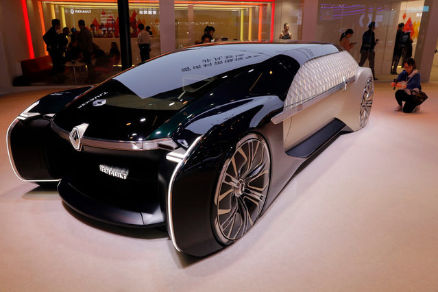 A Renault EZ-Ultimo concept car sits on display during the media day of the Auto Shanghai 2019 motor show in Shanghai, China, 16 April 2019. (Photo by Wu Hong/EPA/EFE)