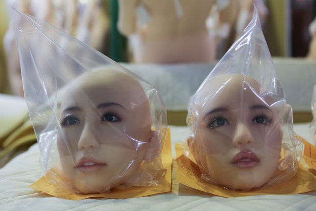 Love doll heads are on display on March 9, 2017 in Tokyo, Japan. (Photo by Taro Karibe/Getty Images)