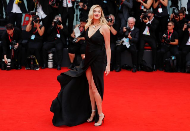 "Model Kate Upton walks the red carpet ahead of the ""Marriage Story"" screening during the 76th Venice Film Festival at Sala Grande on August 29, 2019 in Venice, Italy. (Photo by Yara Nardi/Reuters)"
