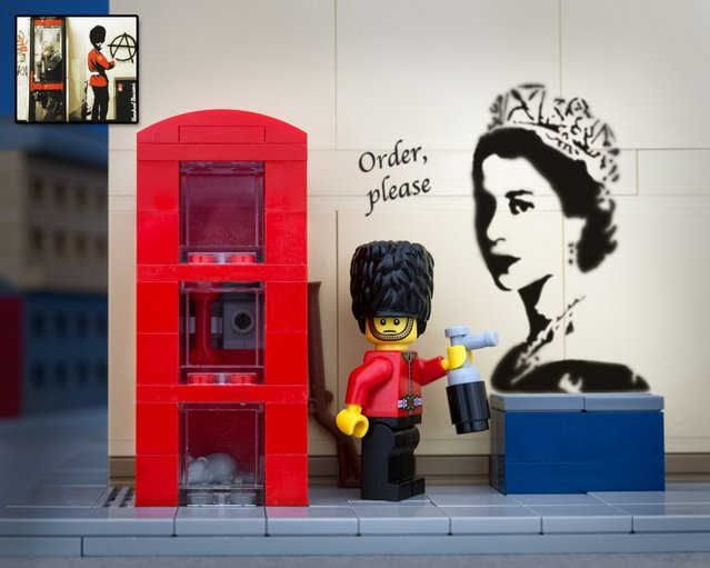 Banksys Artwork In Lego Form