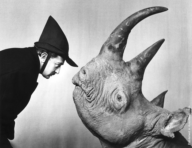 Salvador Dali and rhino, 'Chaos and Creation', 1958. Photo by Philippe Halsman
